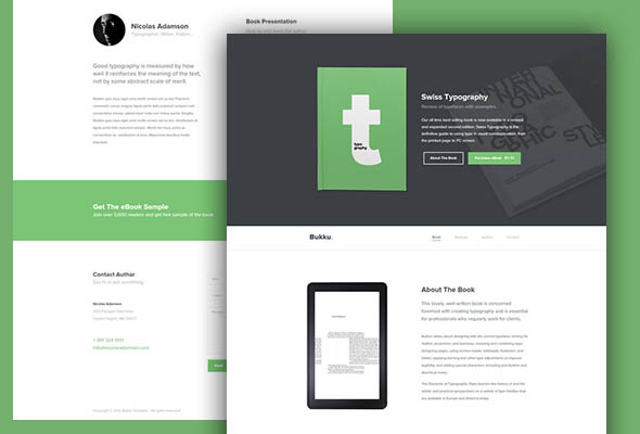 ebook -free html5/css3 bootstrap template