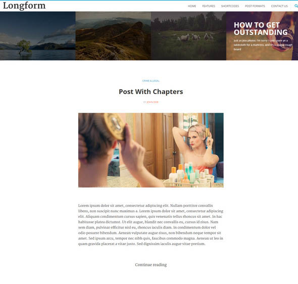 Longform - Story telling WordPress blog Theme