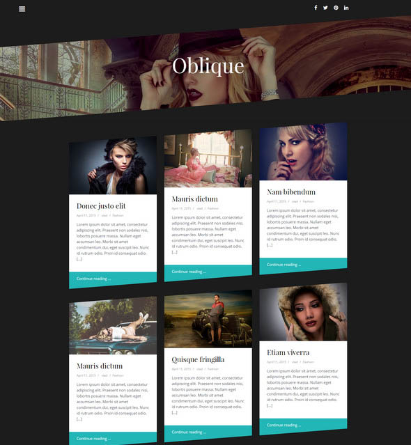 masonry blog theme for wordpress