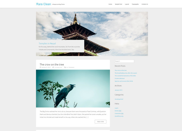 Rara - wordpress Responsive Blog Theme