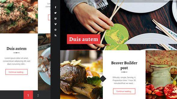 recepter theme - for restaurants, blogs, free wordpress themes