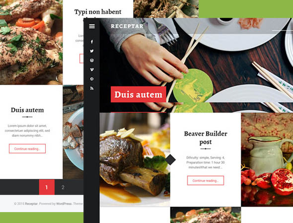 recepter theme - for restaurants, blogs, wordpress theme
