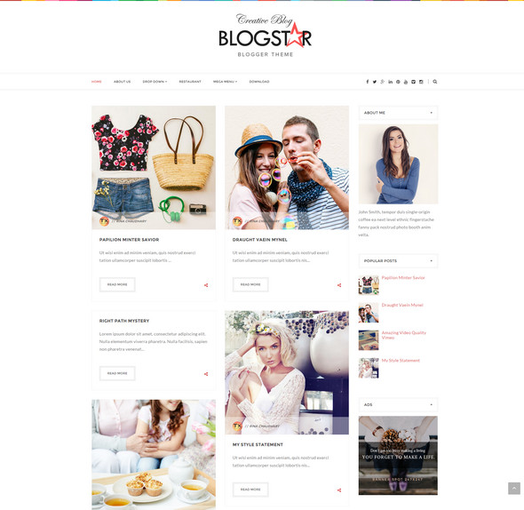 Blogger Template for female bloggers