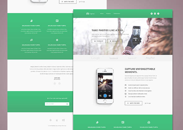 capture- free bootstrap html5 template