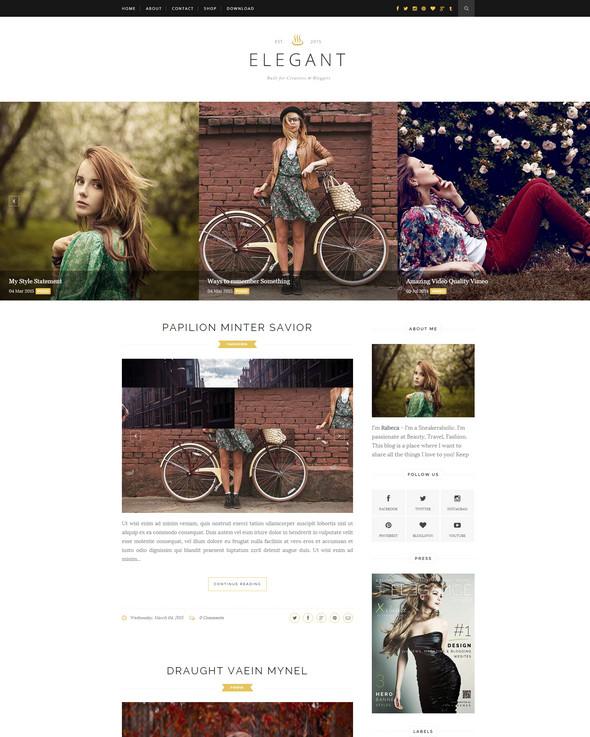 Elegant - Responsive Blogger Template