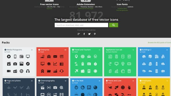 flat vector icon website