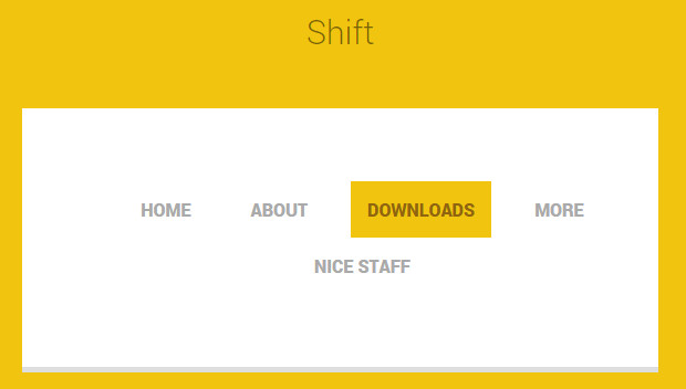 free navigation shift menu