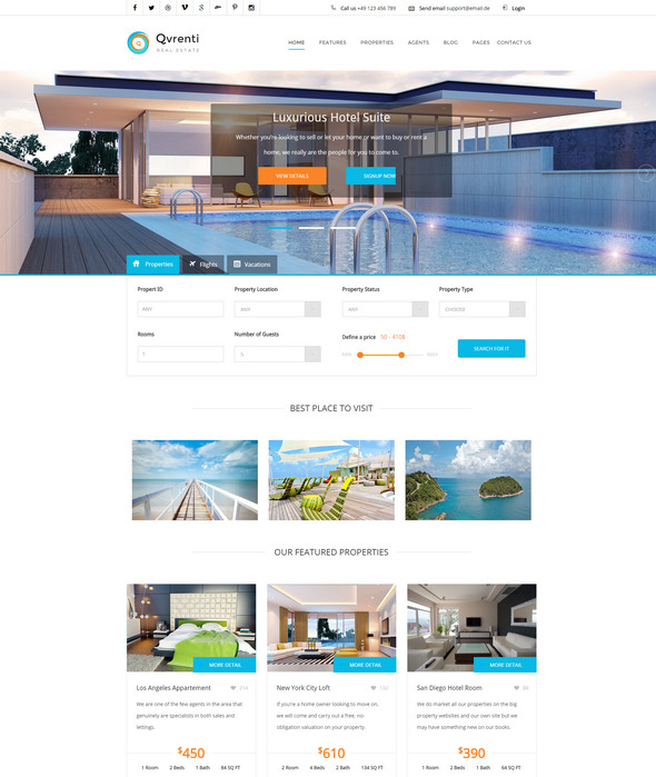 Responsive Real Estate HTML5 Template
