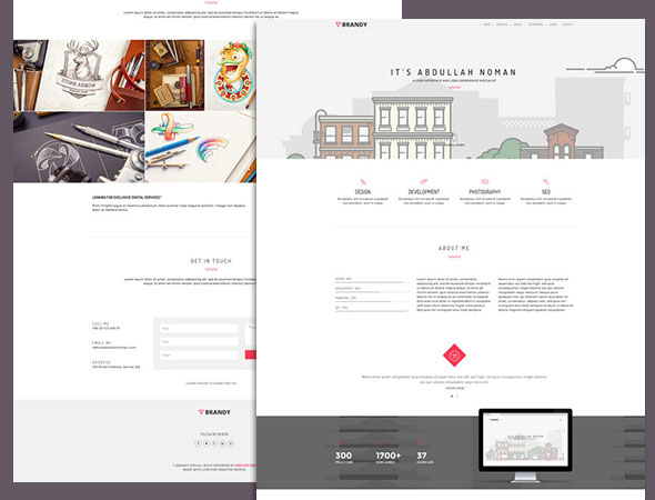 A portfolio css3 website template