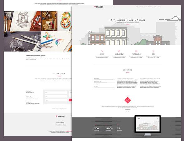 A portfolio css3 website template