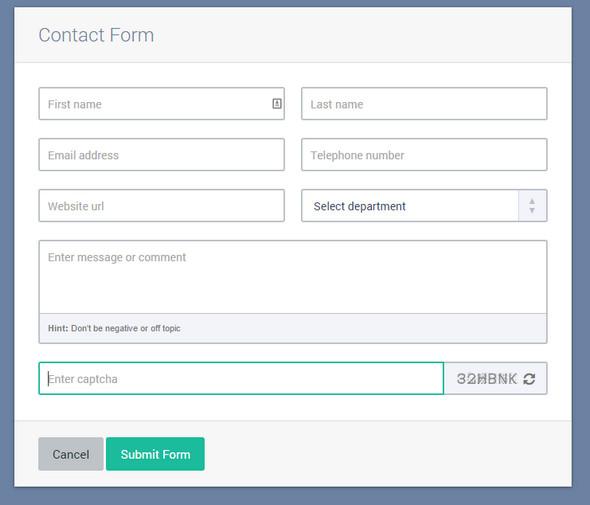 Responsive Ajax Contact Forms