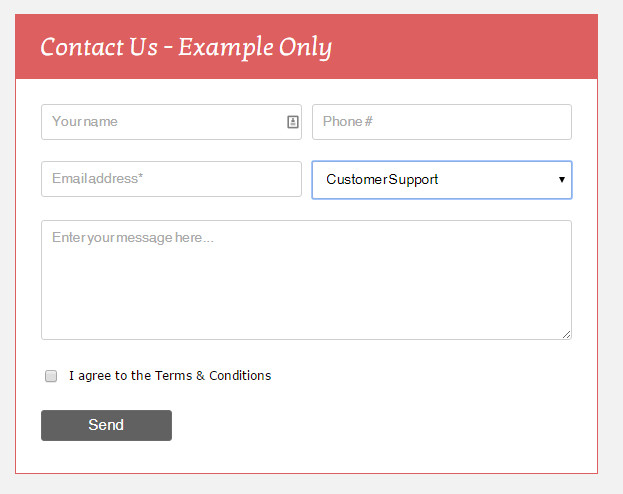 Generated Contact Form