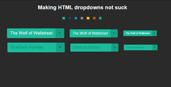 html dropdown menus