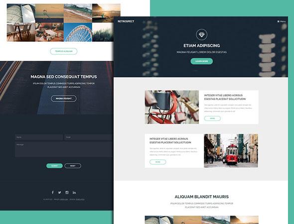 a elegant html website template