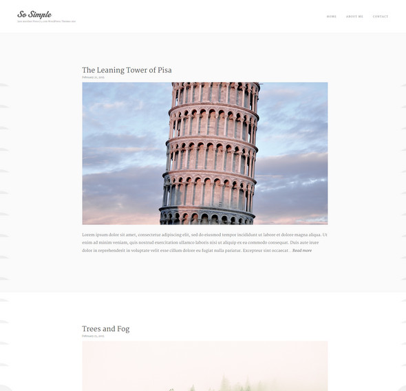 simple wordpress blog theme