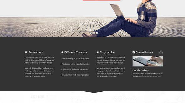 Responsive Joomla website template