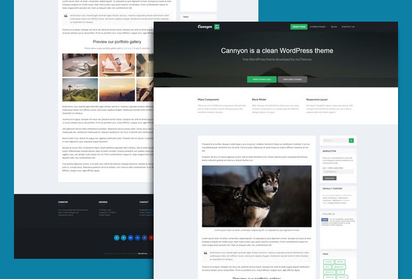 clean WordPress theme for free download
