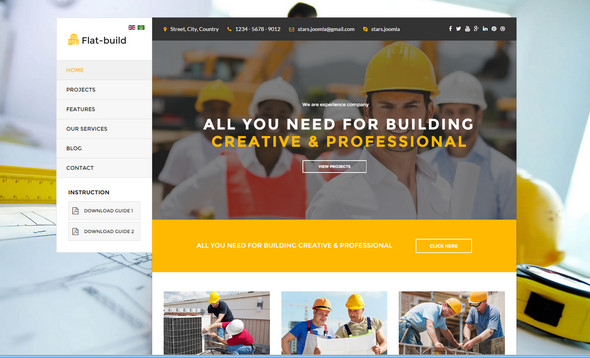 joomla Building and Construction Template