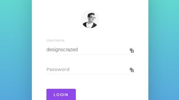 minimal login form in css3 and html5