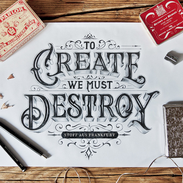 Hand-drawn Type Artworks 2015 tutorials