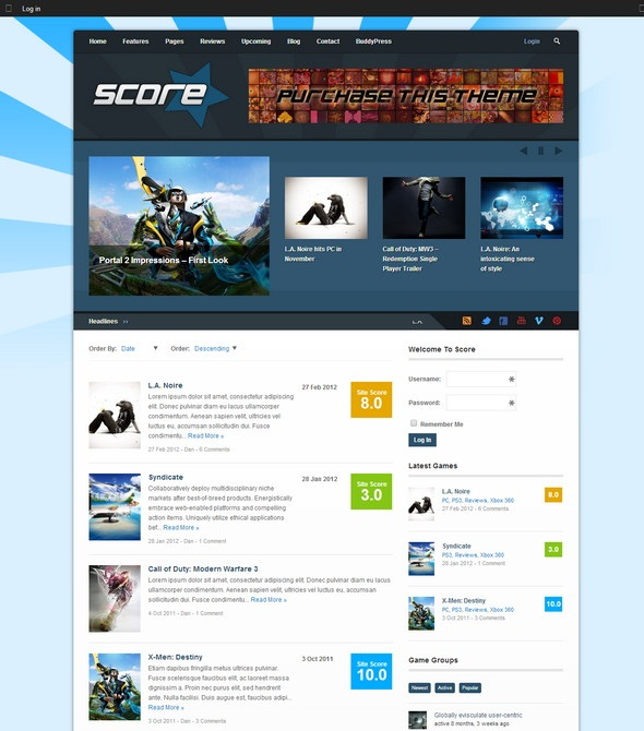 Score Review WordPress BuddyPress