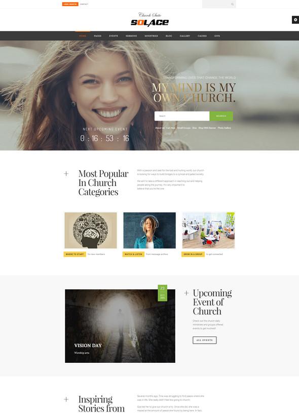 chruch suite - non profit wordpress website theme for fund raising