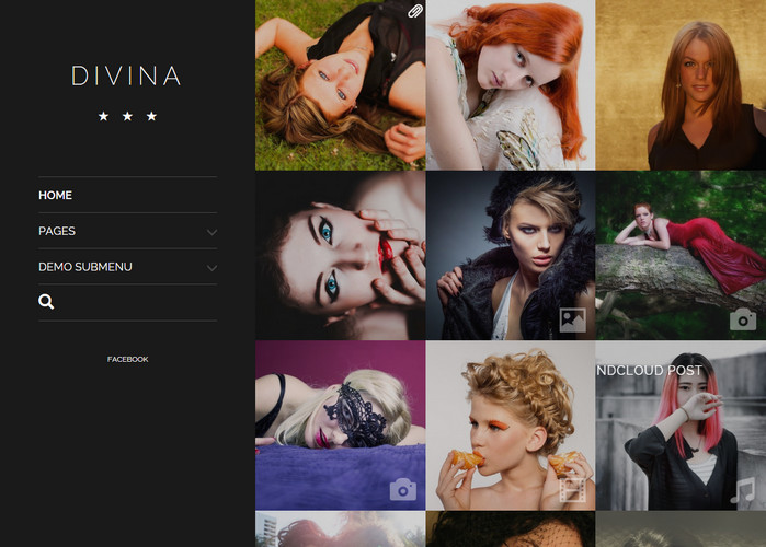 divina - classic photography website theme