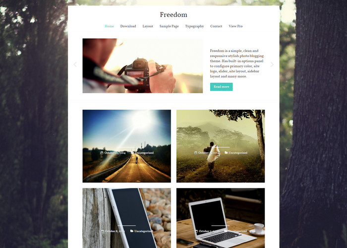 freedom - photo blog theme