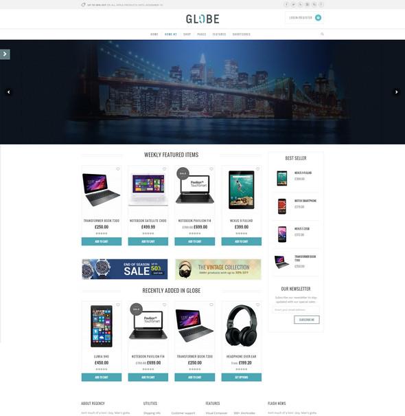 globe - technology wordpress theme