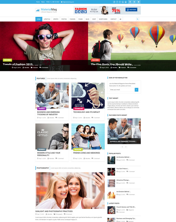 material mag - technology wordpress theme