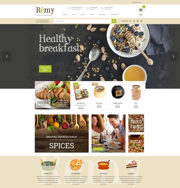 remy - restaurant wordpress theme