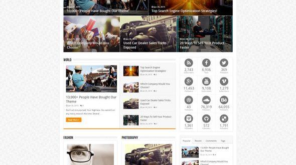 Flat WordPress Magazine, Blog Theme