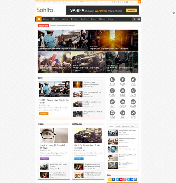 WordPress News, Magazine, Blog Theme