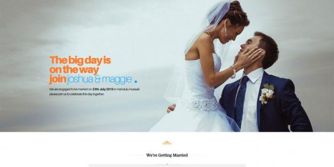 Fullscreen WordPress Wedding Theme