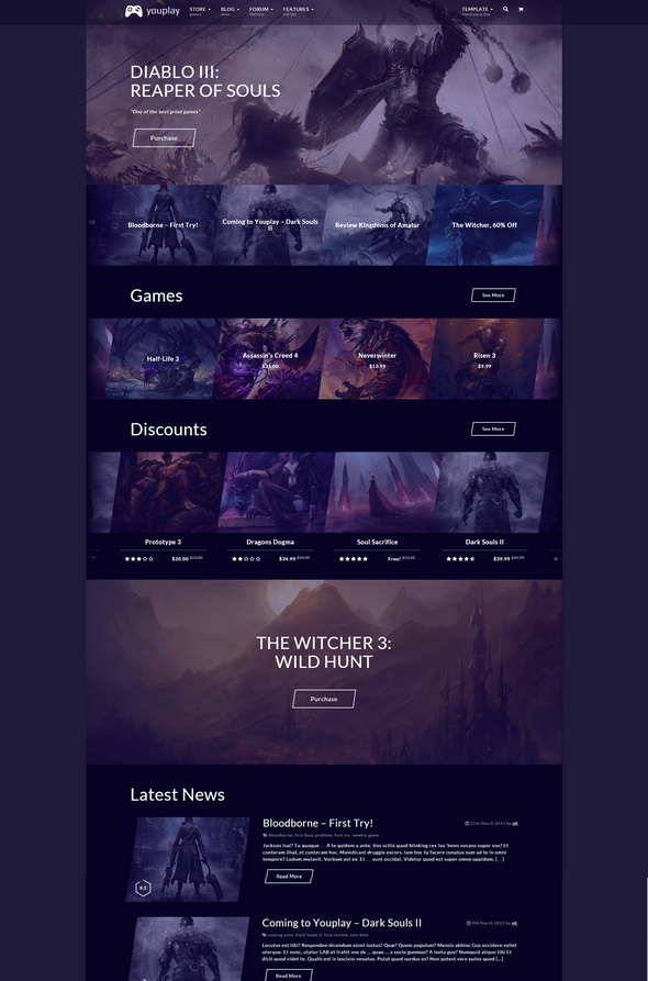 Youplay - Gaming Wordpress Theme