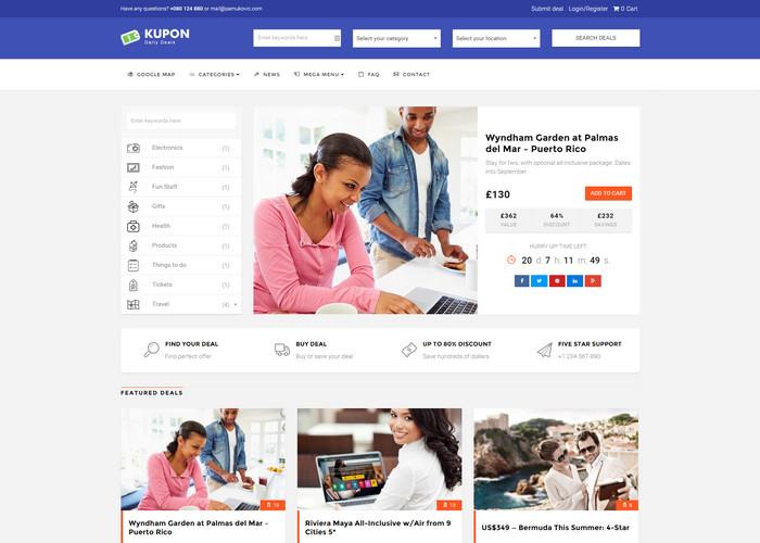 Kupon - strong coupon wordpress theme for affiliates