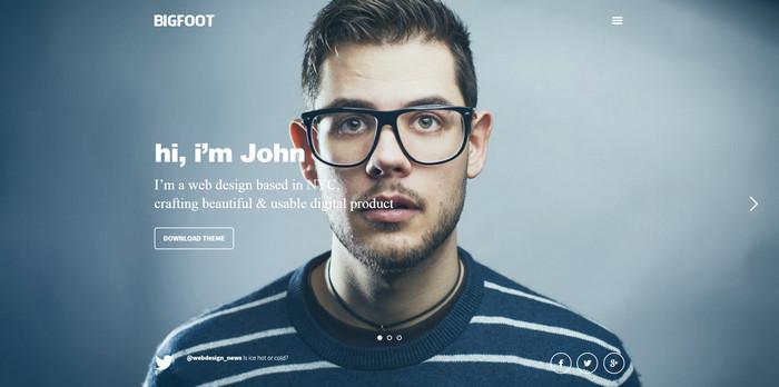 BigFoot is a free responsive wordpress theme for portfolio