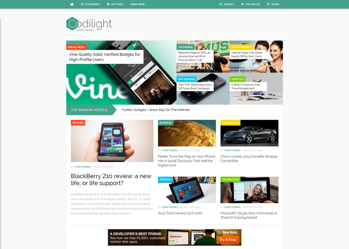 codilight - high quality wordpress blog theme