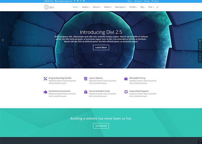 divi - popular multi purpose wordpress theme