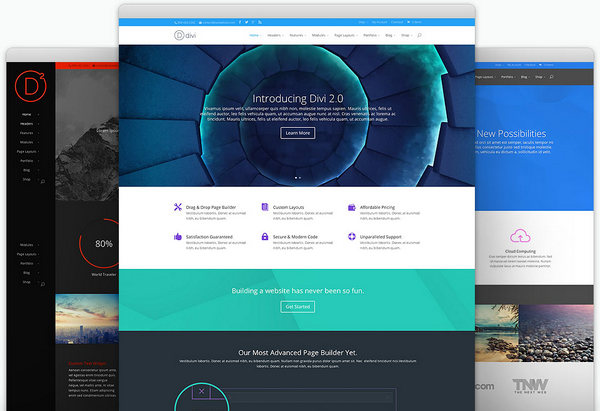 divi2- popular wordpress theme for any purpose