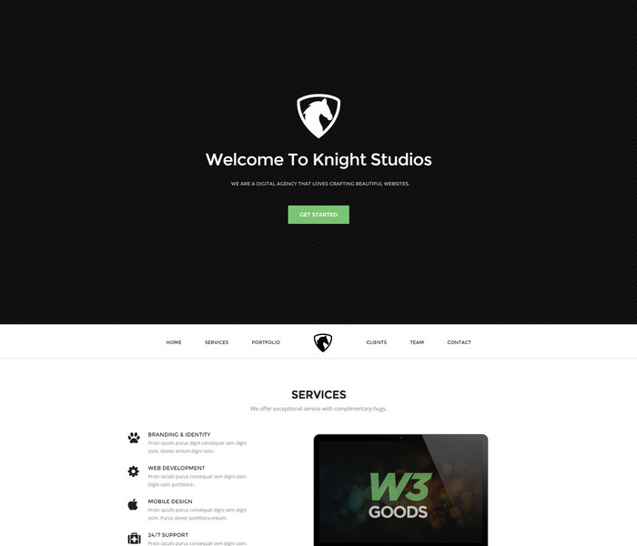 multipurpose web template on bootstrap framework