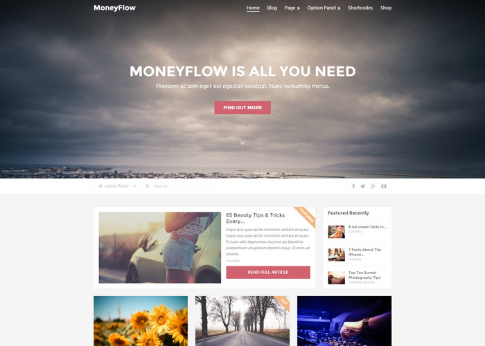 modern and professional blog theme for wordpress