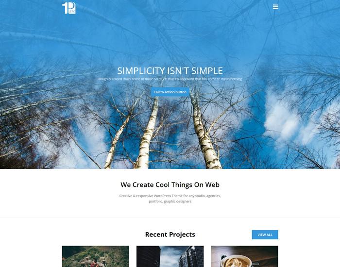 onepage -portfolio wp theme