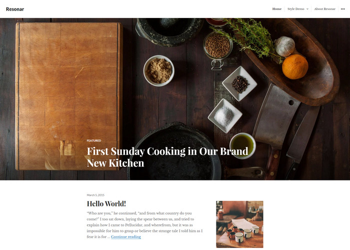 resonar - free food review theme for restaurants, hotels