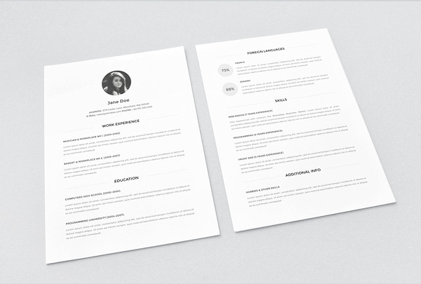 resume-template-download-free