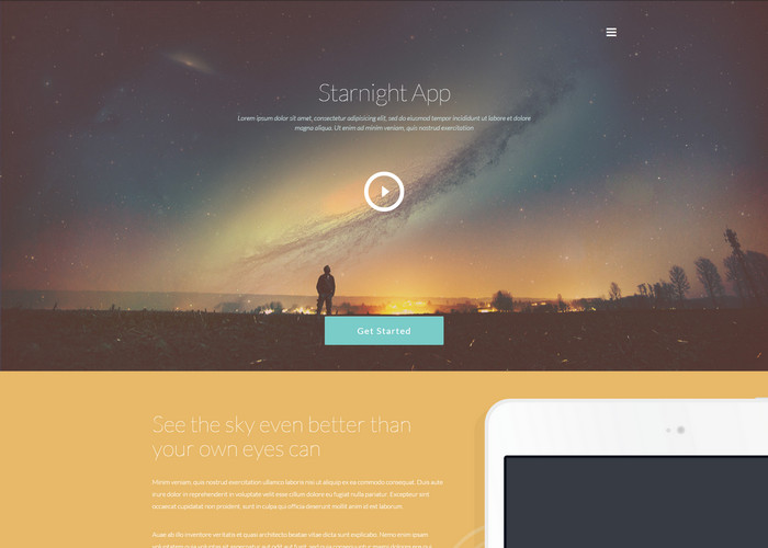 oenpage App website template
