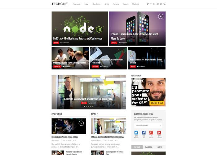 techone - tech affiliate review theme