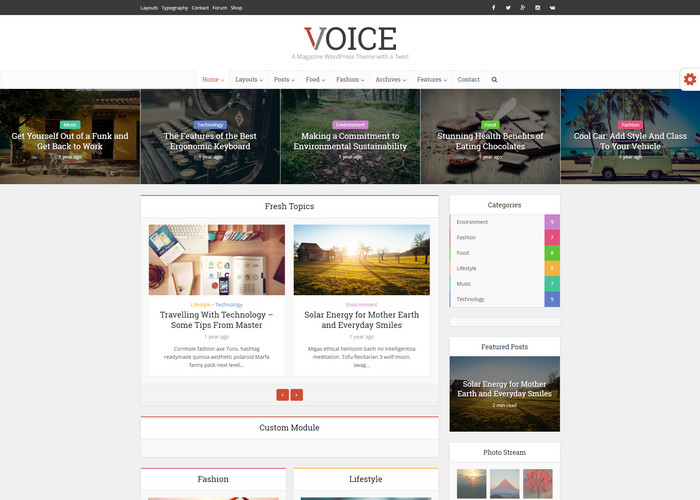 voice - clean blog theme for wordpress marketers