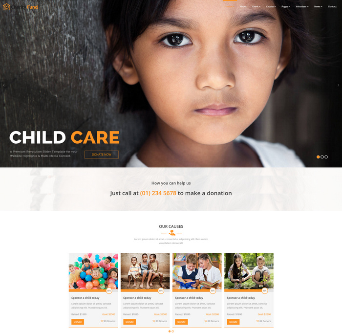 Charity & Crowdfunding HTML Template