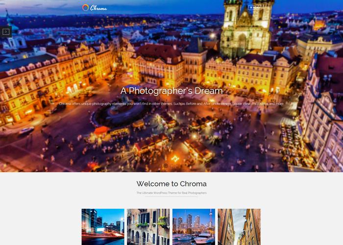 Photographer's Dream - full screen WordPress theme